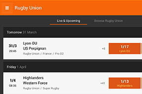 Rugby markets overview