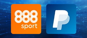 888sport and PayPal logos