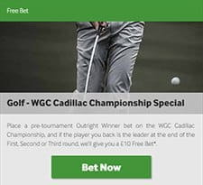 Betway Free Bet Golf Special