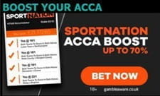 The unique Sport Nation acca boost