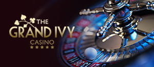 Casino roulette game and Grand Ivy logo