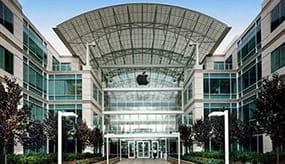 The headquarters building of Apple