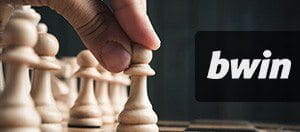 A picture showing a chess board and the bwin logo