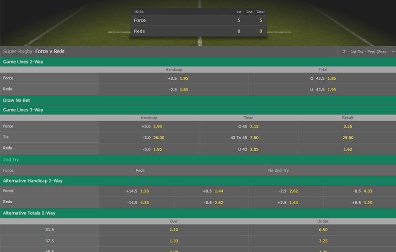 in-play betting at bet365
