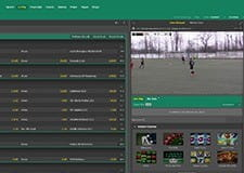 The bet365 in-play platform