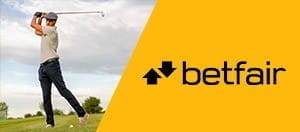A golfer and a betfair logo