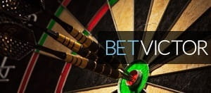 Darts in the dart board with the BetVictor logo overlayed