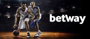 Two basketball players fighting for the ball overlayed by Betway logo