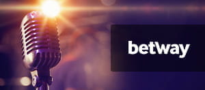 A microphone and Betway logo