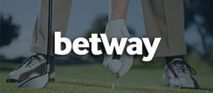 Betway logo and a golf player bent over