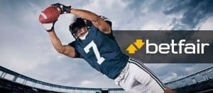 A player diving for the endzone overlayed by Betfair logo