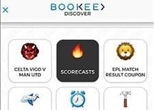Bookee curate your bets; all you have to do is swipe right or left
