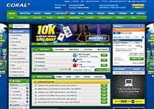 The Home Page Of The Coral Sportsbook - From Here You Can Naviagte To All The Sports & Betting Markets The Live Betting Fixtures And The Special Bonuses And Promotions.