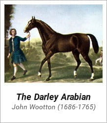 Darley Arabian - One of the first three stallions from which the modern day thoroughbred bloodstock is derived