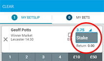 stake amount at BetBright