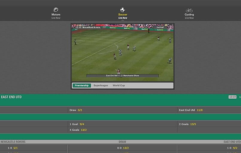 virtual football betting at bet365