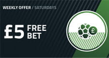 The free bet Saturdays FansBet promotion