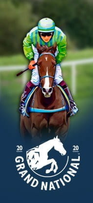 Grand National logo and a horse racing