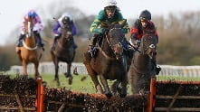 A race in which horses must jump over fences and ditches