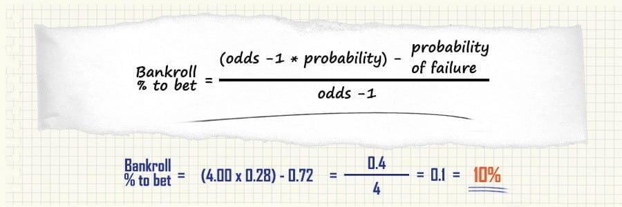 how to apply the kelly criterion to a value bet