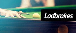 The cue ball overlayed by ladbrokes logo