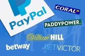 The logos of the top PayPal betting sites