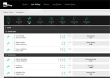 The MoPlay live betting page on their website