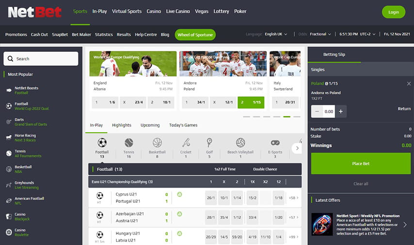 Bet now with NetBet