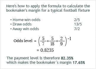 How to work out the odds level at a bookmaker