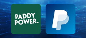 Paddy Power and PayPal logos