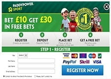 The Paddy Power sign-up bonus