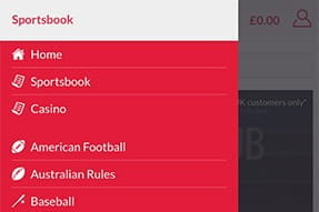 Sports options available on the Blacktype.bet mobile sports book