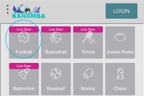 Sports options availiable on the Karamba sportsbook