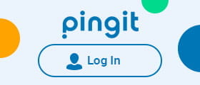 Pingit the log-in page