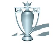 An award-style emblem showing the Premier League champions trophy