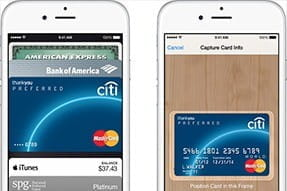 Registering your bank card on the iPhone for Apple Pay usage
