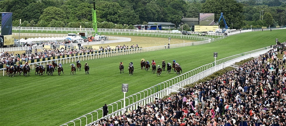 A view of the Ascot Race Course during the famous Ascot festival