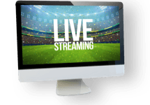Television screen with live streaming