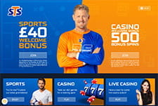 The STS sportsbook homepage small