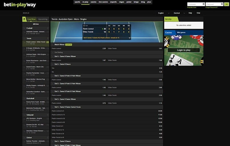 live betting and streaming with betway