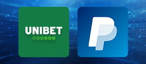 Unibet and PayPal logos