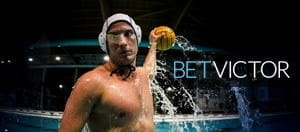 A water polo player with the BetVictor logo
