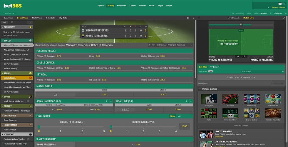 bet365 - In-Play Betting & Live Streaming Put to the Test