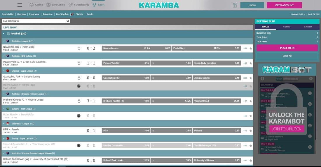 Karamba betting