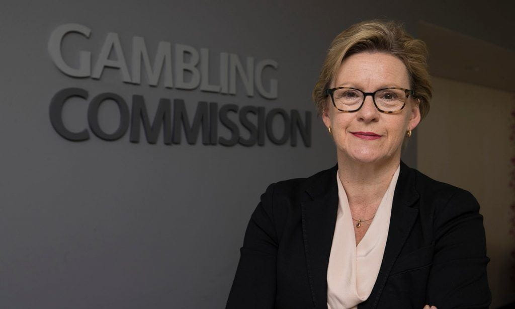Chief executive of the gambling commission Sarah Harrison