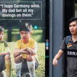 an anti-gambling advert in Singapore