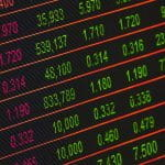 share prices on display