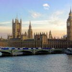 House of Parliament at sunset