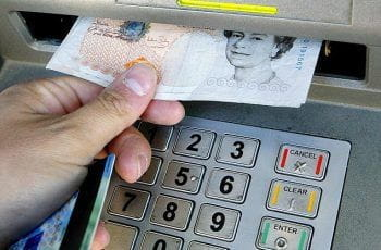 Withdrawing cash from a machine