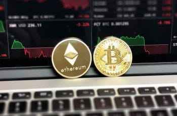 Ethereum and Bitcoin coins